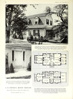 House and Garden's book of houses : containing . Architecture Design, Vintage Architecture, Amazing Architecture, Architectural House Plans, Architectural Prints, Old Houses, Small Houses, Vintage House Plans, Vintage Homes