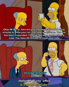 The Simpsons - Homer and Burns - cube