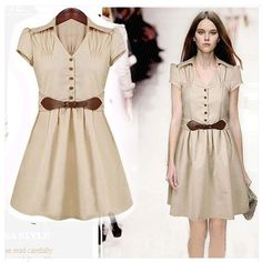 Gender:Women Waistline:Natural Dresses Length:Knee-Length Silhouette:Pleated Neckline:V-Neck Sleeve Length:Short Decoration:Button Pattern Type:Solid Style:Casual Material:Cotton fabric name:others Sleeve type:regular sleeve Dresses Length:Mid-Calf, Ankle-Length    s : bust 85cm around shoulder w...