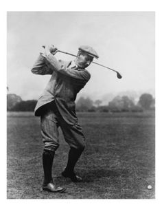 Harry Vardon:    Britain's Harry Vardon was one of the greatest golfers of his generation. The six-time British Open champion also won the 1900 U.S. Open, lost in a 1913 U.S. Open playoff, and tied for second in the 1920 event at age 50. The overlapping grip was first used by Vardon in the 1890s, and was named for him. This vintage golf photo appears courtesy of the Golf Digest Resource Center.