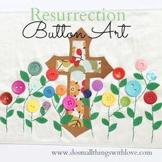 DIY Button Craft: DIY Resurrection Button Art