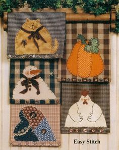 Applique Sweatshirt and Purse patterns for primitive inspirational