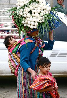 to the market, Guatemala.
