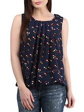 navy blue Polyester top - Online Shopping for Tops