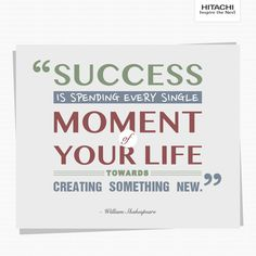 #QuoteOfTheDay Now you know why #Hitachi continues to spell success with every new product!