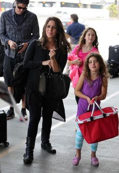 Soleil Moon Frye with her husband Jason Goldberg and daughters Jagger (Front) and Poet (Back)...