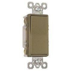 Ps 15a 4way Dec Switch Brass