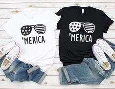 Merica Shirt - of July Shirt - 'Merica Shirt – CookieCutterGifts Fourth Of July Shirts, Patriotic Shirts, 4th Of July Outfits, July 4th, Funny Dad Shirts, Dad To Be Shirts, Cool Shirts, Tee Shirts, Merica Shirt