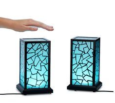 Friendship lamps - a pair of lamps that sync so that when one friend touches their lamp, the other one glows (whether you're just in the next room over or 5,000 miles away). How fun is that?