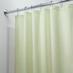 InterDesign Mildew-Free Water-Repellent Fabric Shower Curtain, 72-Inch by 72-Inch, Celery Green