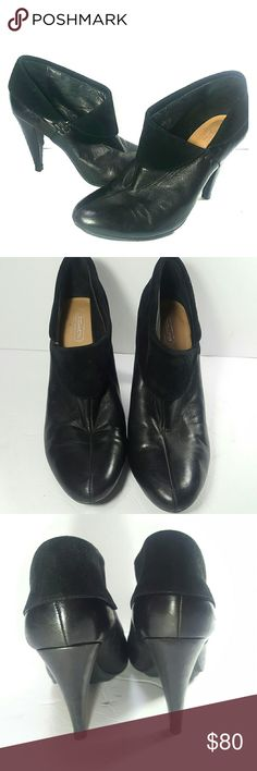 Coach Booties 'Annika' Sz8 Black Leather *EUC* Coach 'Annika' bootie size 8. Excellent condition, worn just a few times. Few small nicks on back heel, Hard to notice. Very comfortable, cute with skinny jeans or leggings. Coach Shoes Ankle Boots & Booties