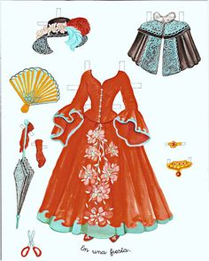 Princess Paper Doll - Cinderella | Gabi's Paper Dolls * 1500 free paper dolls Arielle Gabriel's The International Paper Doll Society #QuanYin5 Twitter QuanYin5 Linked In #ArtrA *
