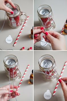 Para uma festa super descolada ou para presentear um amigo de forma diferente e divertida, que tal fazer esse lindo coquetel no vidro?
