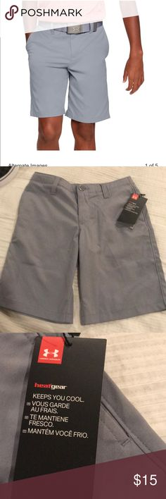 Boys Moisture Wick Fabric GRAY PULL ON SHORTS Speckled SPORTS Casual M L XL