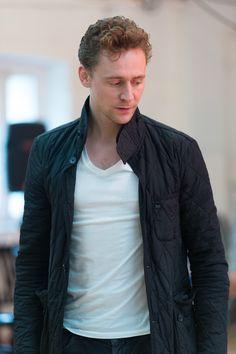 Tom Hiddleston during the rehearsal of Coriolanus