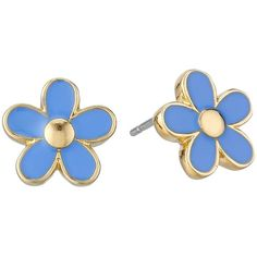 Marc by Marc Jacobs Daisy Studs Earrings ($48) ❤ liked on Polyvore featuring jewelry, earrings, conch blue, post earrings, stud earrings, marc by marc jacobs earrings, stud earring set and blue jewelry