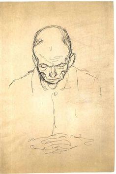 Klimt - Brustbild eines alten Mannes von vorne.jpg