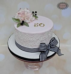 50th Birthday - Cake by Karens Kakes