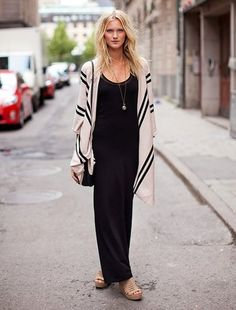 Black Maxi Dress love the casual look