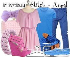"""""""Stitch + Angel"""" by lalakay ❤ liked on Polyvore"""
