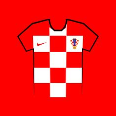 Vote for your favourite World Cup shirt! Croatia World Cup Shirt Vector World Cup Shirts, World Cup Teams, Team Shirts, Your Favorite, Russia, Phones, Kit, Sports, Sport