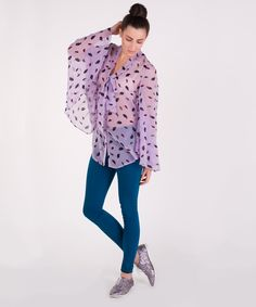 Feather Sheer Blouse £55.00
