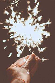 Summer sparklers in the dark (accompanied by laughing & sharing secrets)