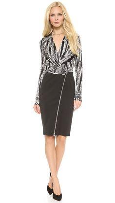 Versace Long Sleeve Dress