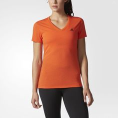 adidas Ultimate V-Neck Tee - Womens Short Sleeve Shirts