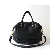 Leather Handbag Opelle Vanda Mini in Black pebbled leather NEW ss2013