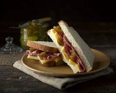 Salami and Swiss Cheese Sandwich recipe | Newburn Bakehouse