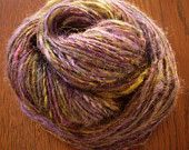 Purple Gold Mix Alpaca Handspun