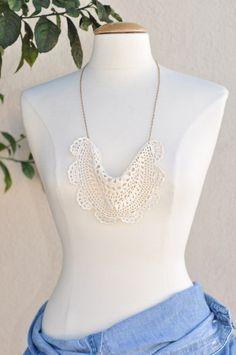 Anthropologie Lace Necklace Diy By ...love Maegan, Via Flickr