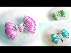 Заколка канзаши из лент для девушки МК Алена Хорошилова DIY tutorial ribbon kanzashi - YouTube
