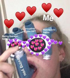 – * out: dy… - Wholesome Memes Love You Meme, Cute Love Memes, Crush Memes, Photo Lovers, Lovers Photos, Heart Meme, Snapchat Stickers, Cartoon Memes, Make Happy
