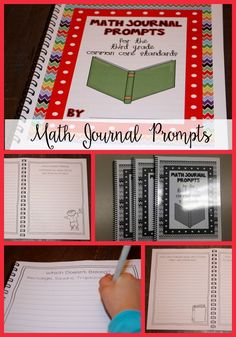 Check out these Math Journal Prompts for excellent lessons and discussion ideas! Math Journal Prompts, Math Journals, Fun Math Games, Math Activities, Math Classroom, Future Classroom, Classroom Ideas, Math Writing, Math Manipulatives