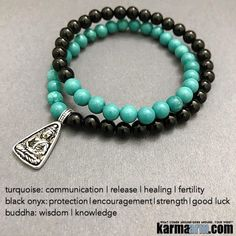 Turquoise is a gemstone that provides protection, grounding, strength, courage, #love and #luck. It is also a token of friendship but it's strongest ability is for alleviating negativity. Many Indian tribes associate #Turquoise with #fertility. Black #Ony