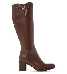 Dune Ladies Brown Classic Todd Cleated-sole Leather Boots In Brown-leather Leather Boots, Brown Leather, Dune, My Outfit, Block Heels, Cleats, Riding Boots, Heeled Boots, Bring It On