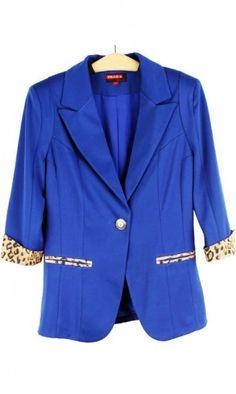 Lapels matching leopard a buckle short suit jacket 081522
