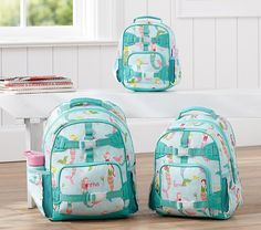 Perfectly proportioned for every student, our collection of backpacks offers a size for each age and stage! Make our little one's  bag unique by adding their name.