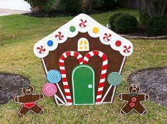 Gingerbread House Yard Art Christmas Decoration.