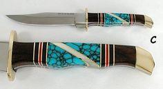 Navajo Inlay sheath knife
