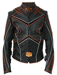 Women X-Men Wolverine Cropped Leather Jacket