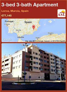 3-bed 3-bath Apartment in Lorca, Murcia, Spain ►€77,145 #PropertyForSaleInSpain