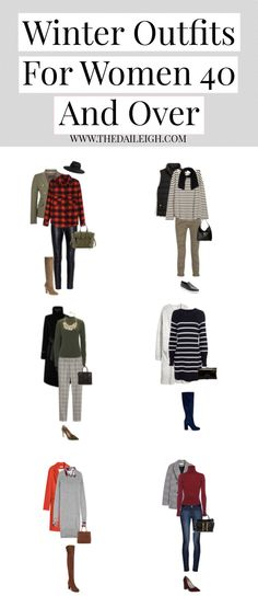 5 Days Of Winter Outfits For Women 40 And Over // womens winter fashion inspiration Winter Mode Outfits, Cold Weather Outfits, Winter Fashion Outfits, Fashion Dresses, High Street Fashion, Winter Wardrobe Essentials, Wardrobe Basics, Wardrobe Staples, Capsule Wardrobe