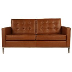 Florence Knoll Sofa 2 Seater Sofa Replica in Leather - Sofas - Modern Classics Commercial Furniture