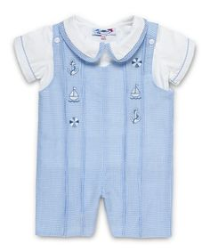 Aurora Royal Baby Boys 2 piece Cotton Outfit with Nautical Hand Embroidery 3M-24