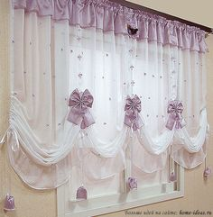 Нежные шторы для уюта