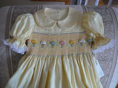 Hand Smocked Girls Dress  ......Ice  Cream Cone .....By The My Collection 2