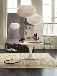 Dining room | Victorian romance | Feather pendant lights | Monochrome | Modern | Livingetc